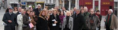 Photo du groupe lors du voyage à Besançon du 5 novembre 2006