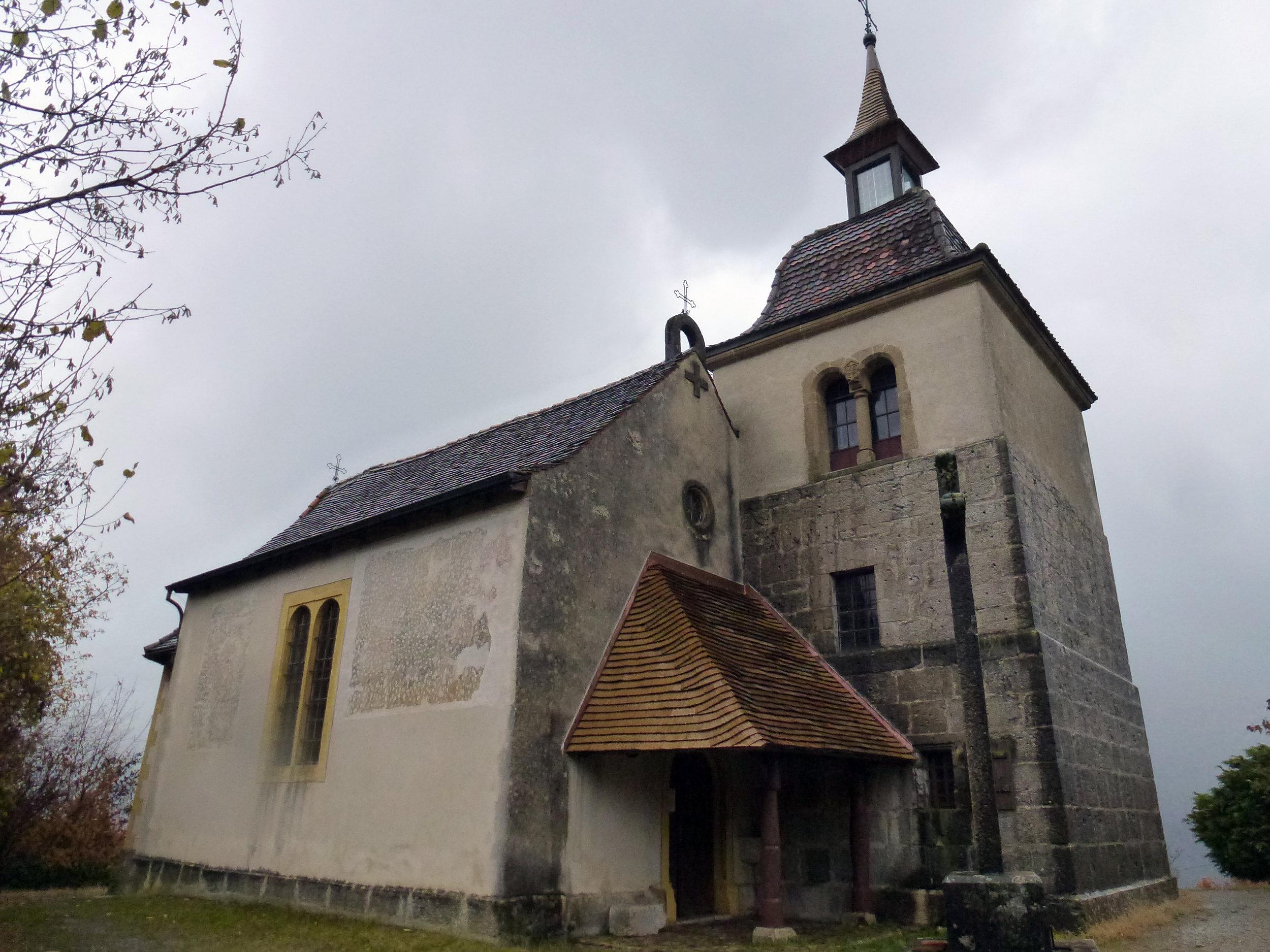 Chapelle de Combes, construite au 17ème siècle dans le respect du nombre d'or
