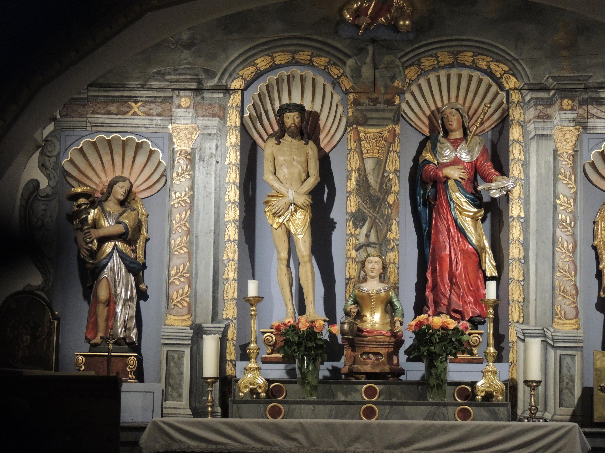 L'autel de la chapelle Saint-Martin