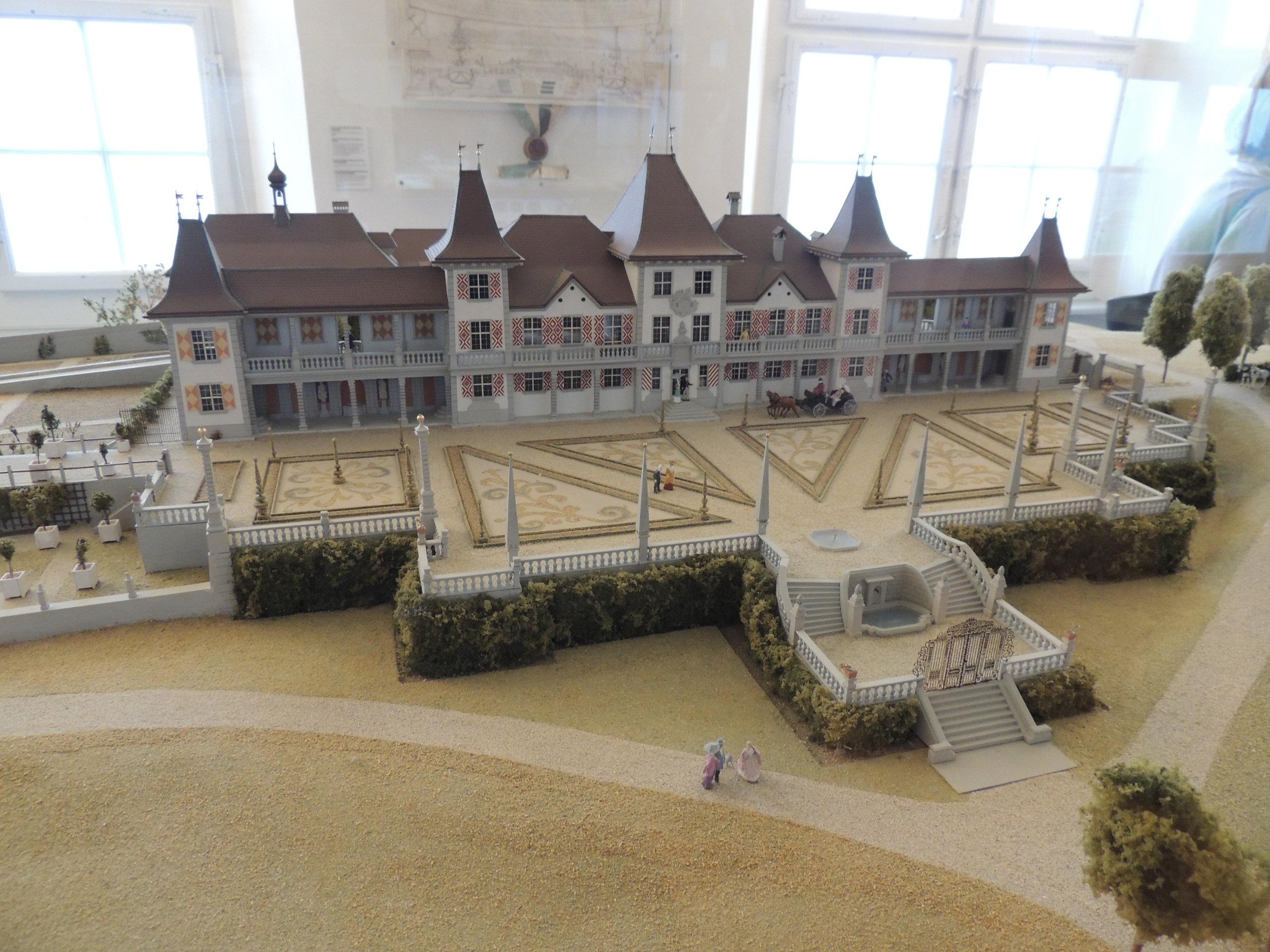 La maquette du château