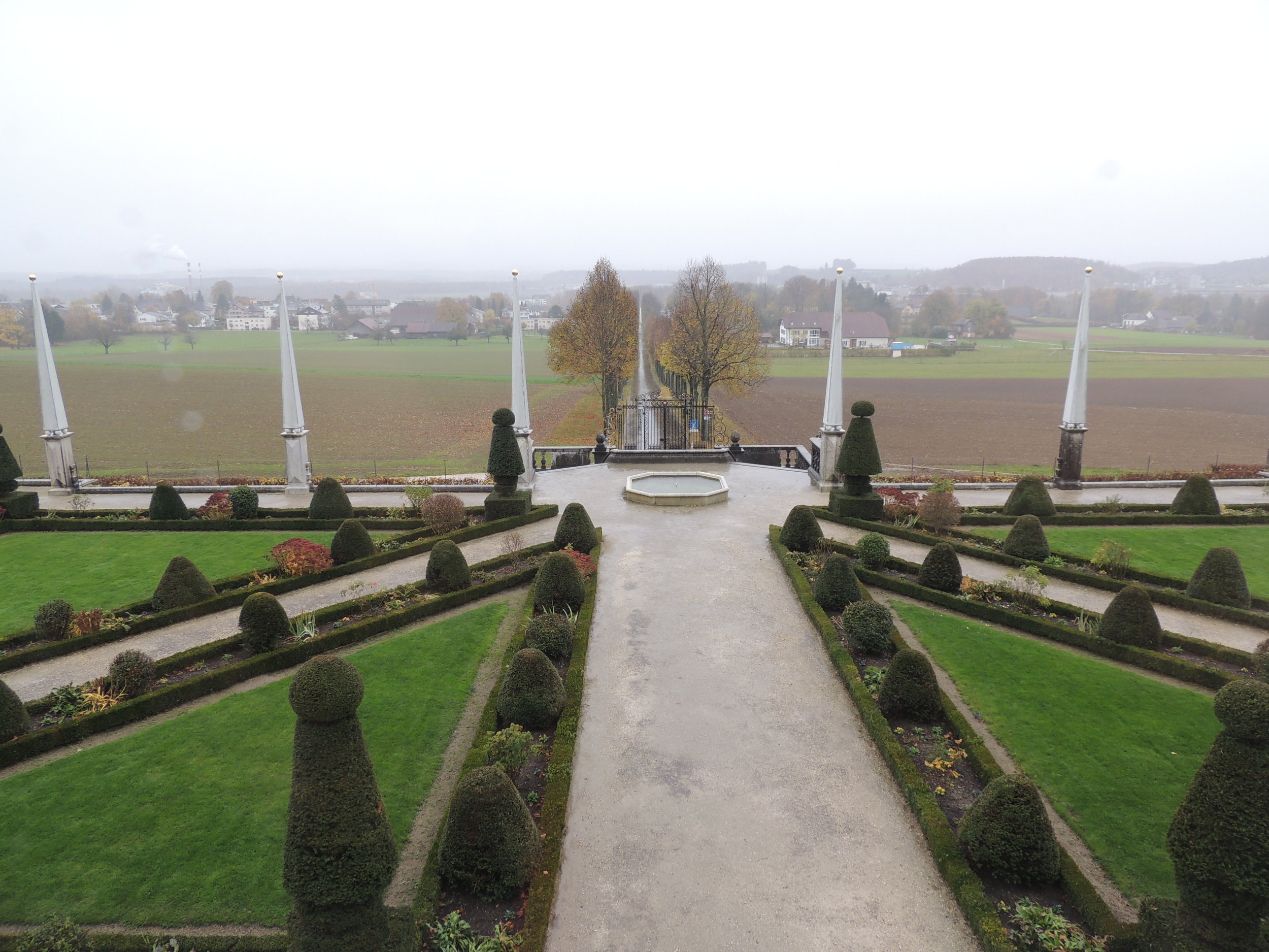 Vue en direction de Soleure depuis les fenêtres des étages du château