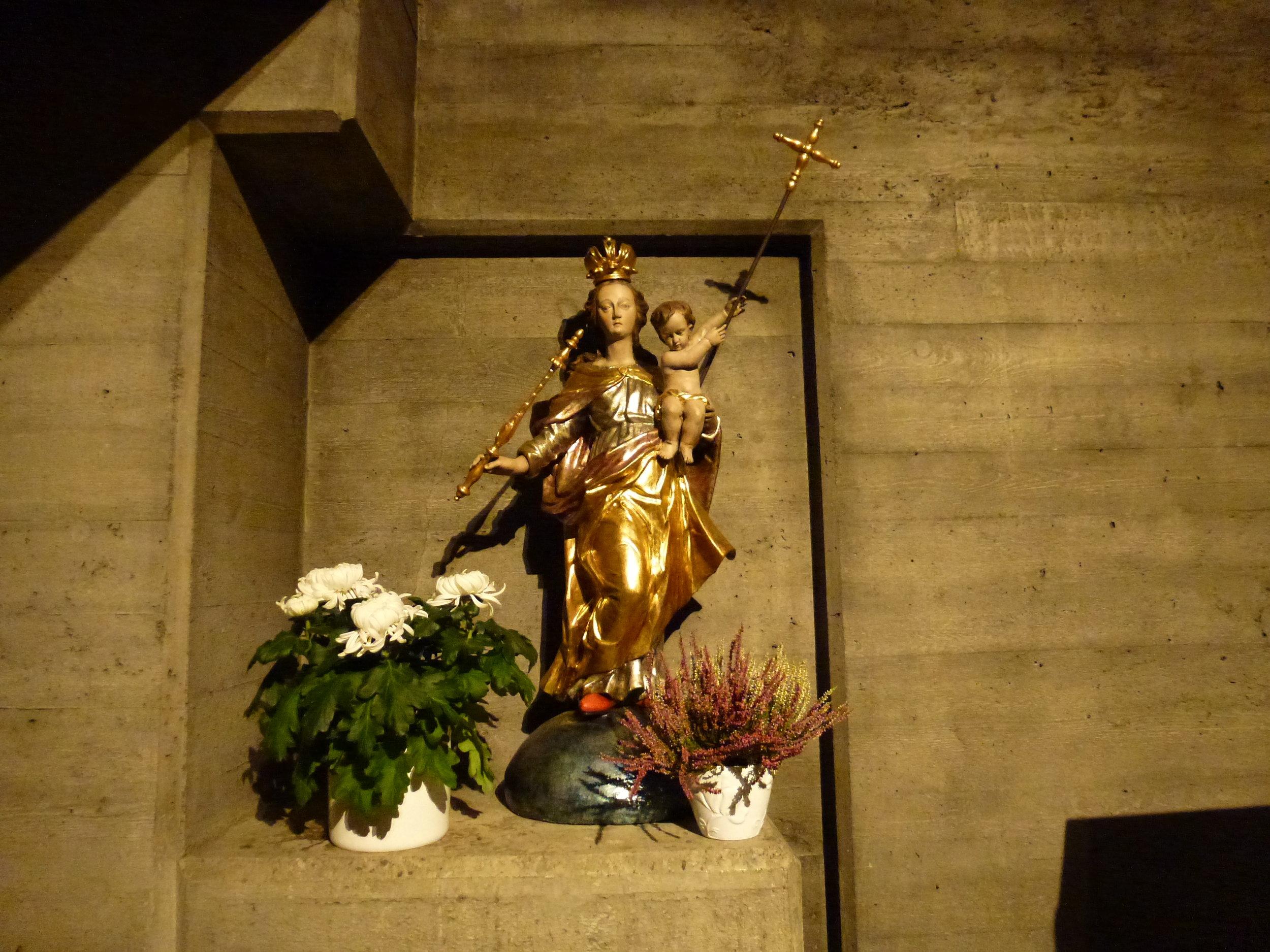 Détail de l'intérieur de l'église Saint-Clément de Bettlach