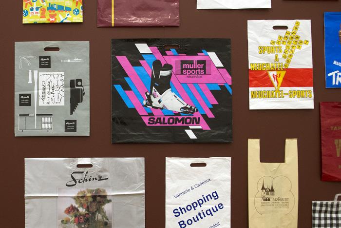 Vue du secteur de l'exposition « Commerces neuchâtelois disparus »