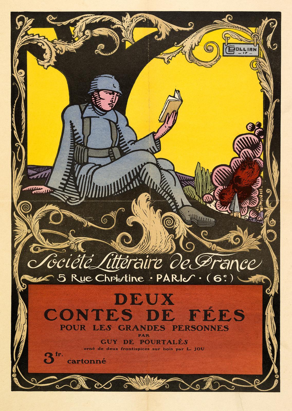 Affiche publicitaire pour un ouvrage de Guy de Pourtalès