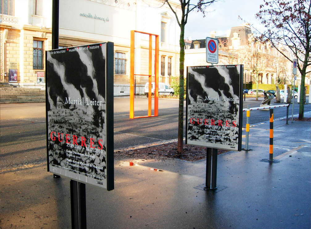 """exposition """"Guerres"""" de Martial Leiter,du 25 septembre 2009 au 10 janvier 2010"""