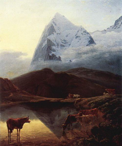 L'Eiger peint par Maximilien de Meuron