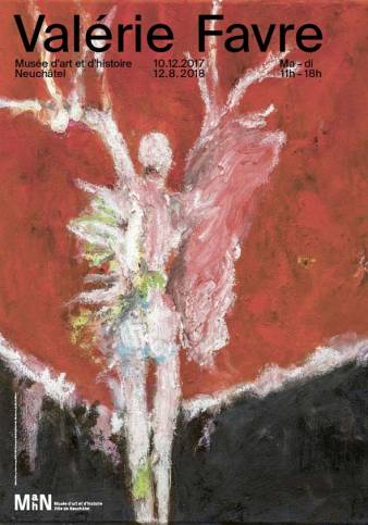 """Affiche de l'exposition """"Valérie Favre"""", une exposition monographique"""", du 10 décembre 2017 au 12 août 2018"""