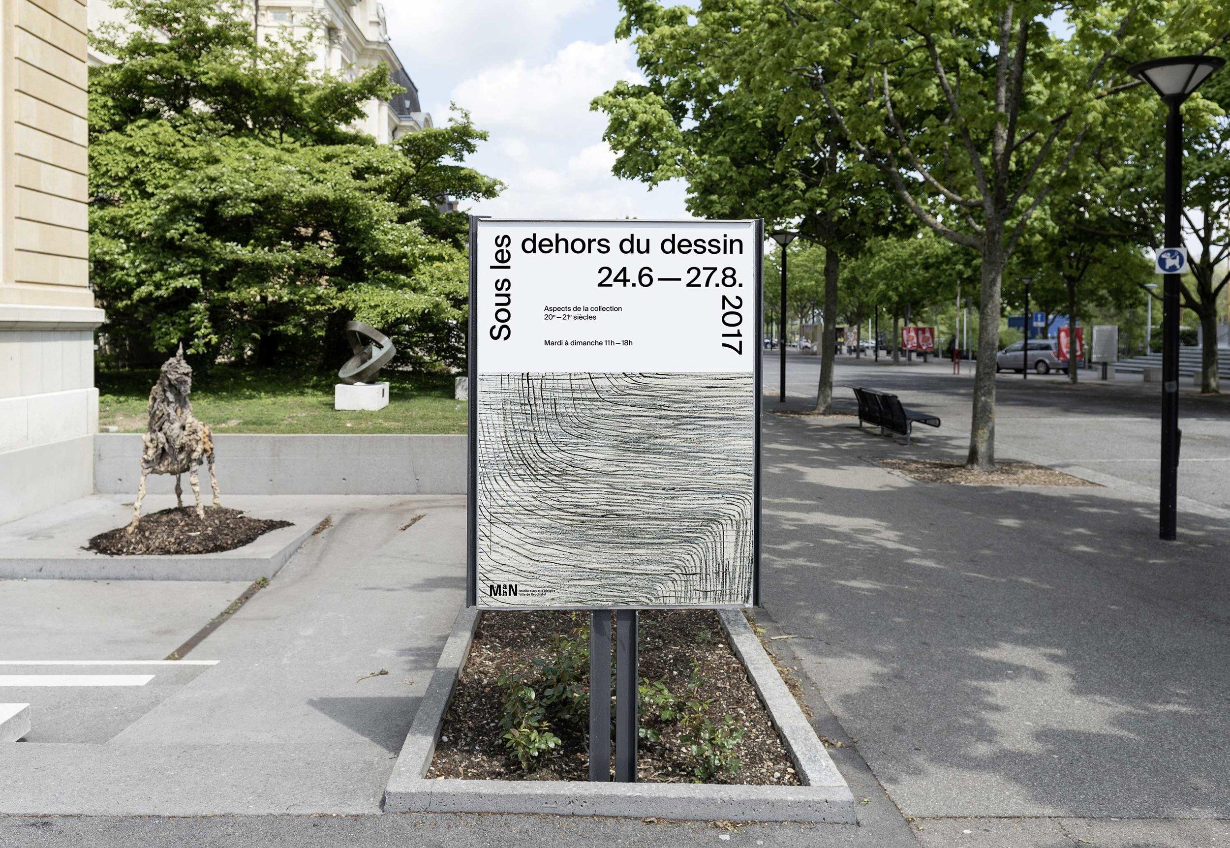 """Affiche de l'exposition """"Sous les dehors du dessin"""", visible du 24 juin au 27 août 2017"""