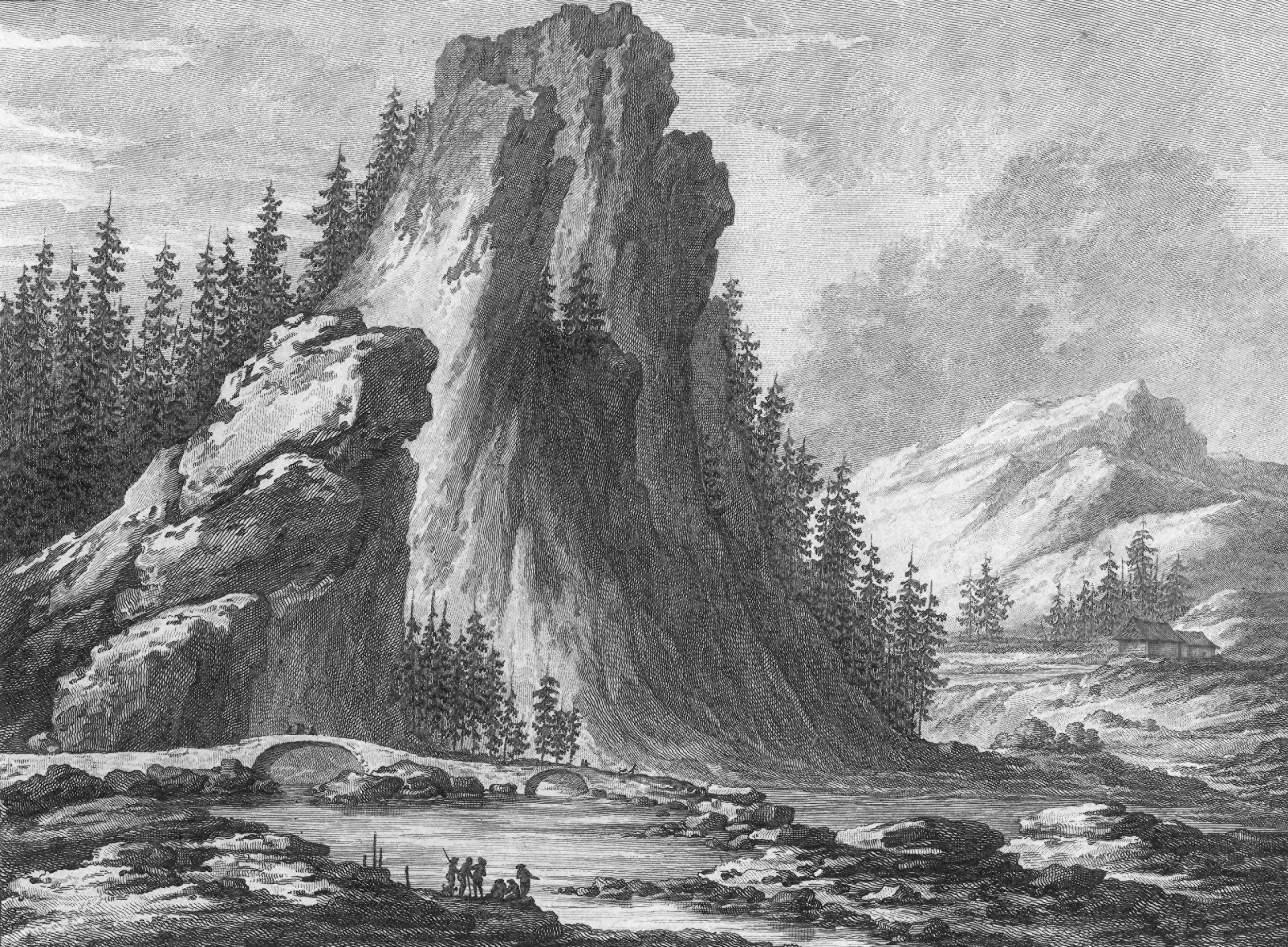 Pont sous la Roche, au haut des gorges de l'Areuse