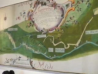 Plan du Val de Travers du 17ème siècle