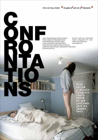 """Affiche de l'exposition """"Confrontations"""", de novembre 2011 à février 2012"""