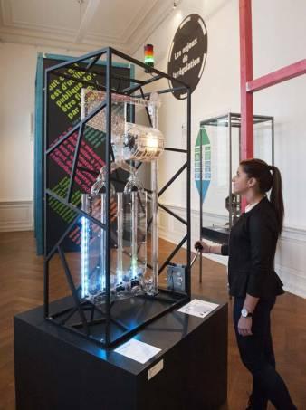 """Machine à jeux présentée dans le cadre de l'exposition """"Argent, jeux, enjeux"""""""