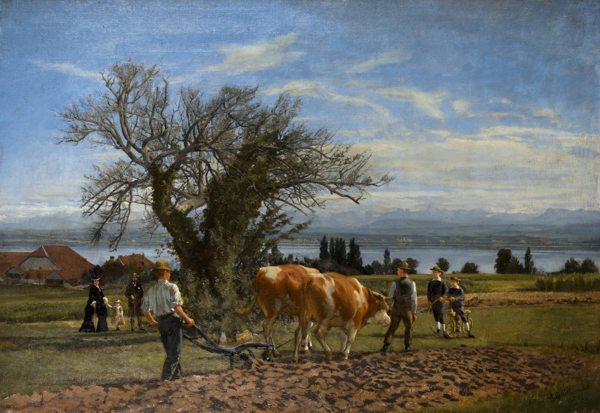 Le Bataillard  de Jules Jacot Guillarmod, après 1875, huile sur toile, 74 x 109 cm