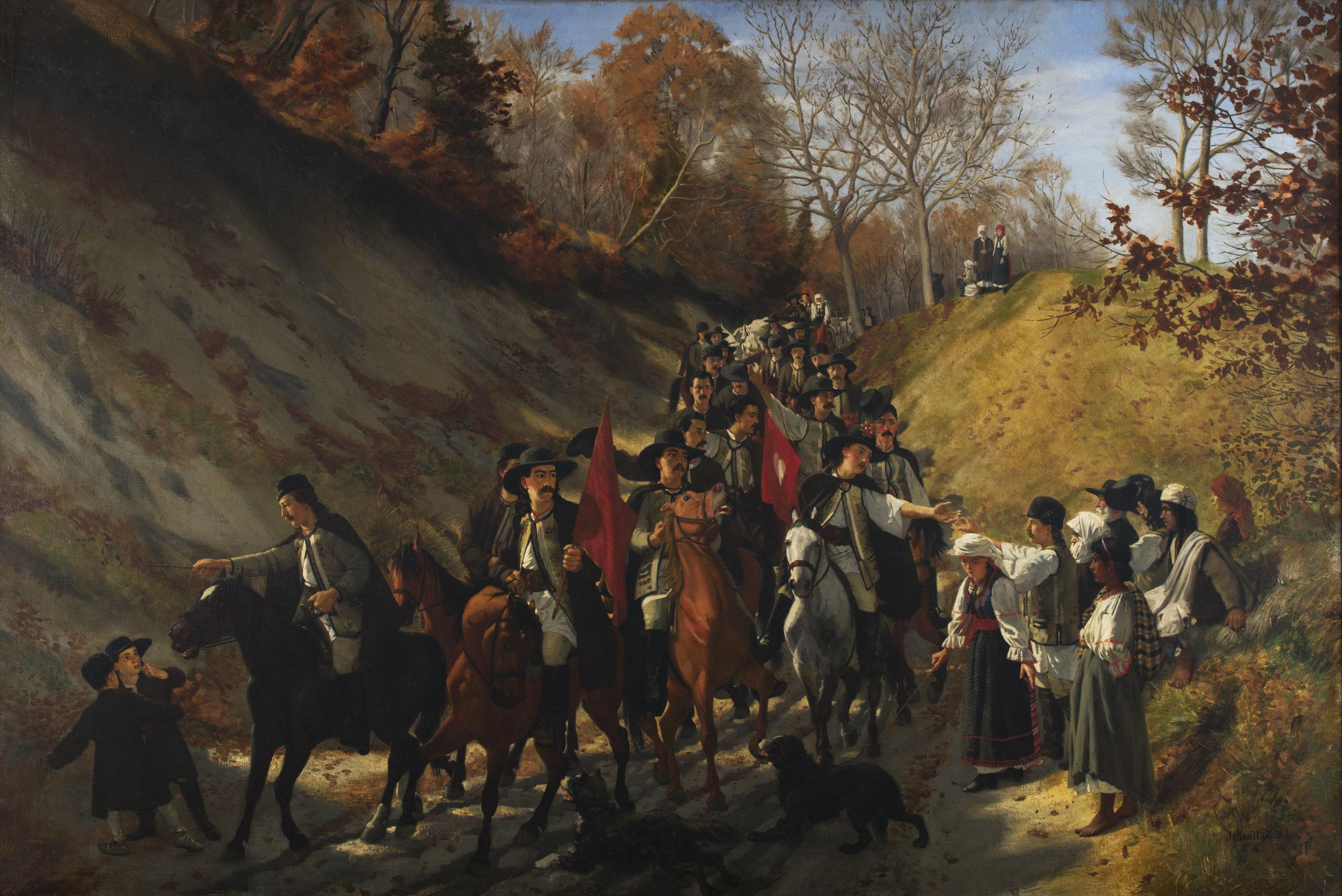 Le cortège de noce en Valachie  de Jules Jacot Guillarmod, 1866 Huile sur toile, 152 x 226 cm