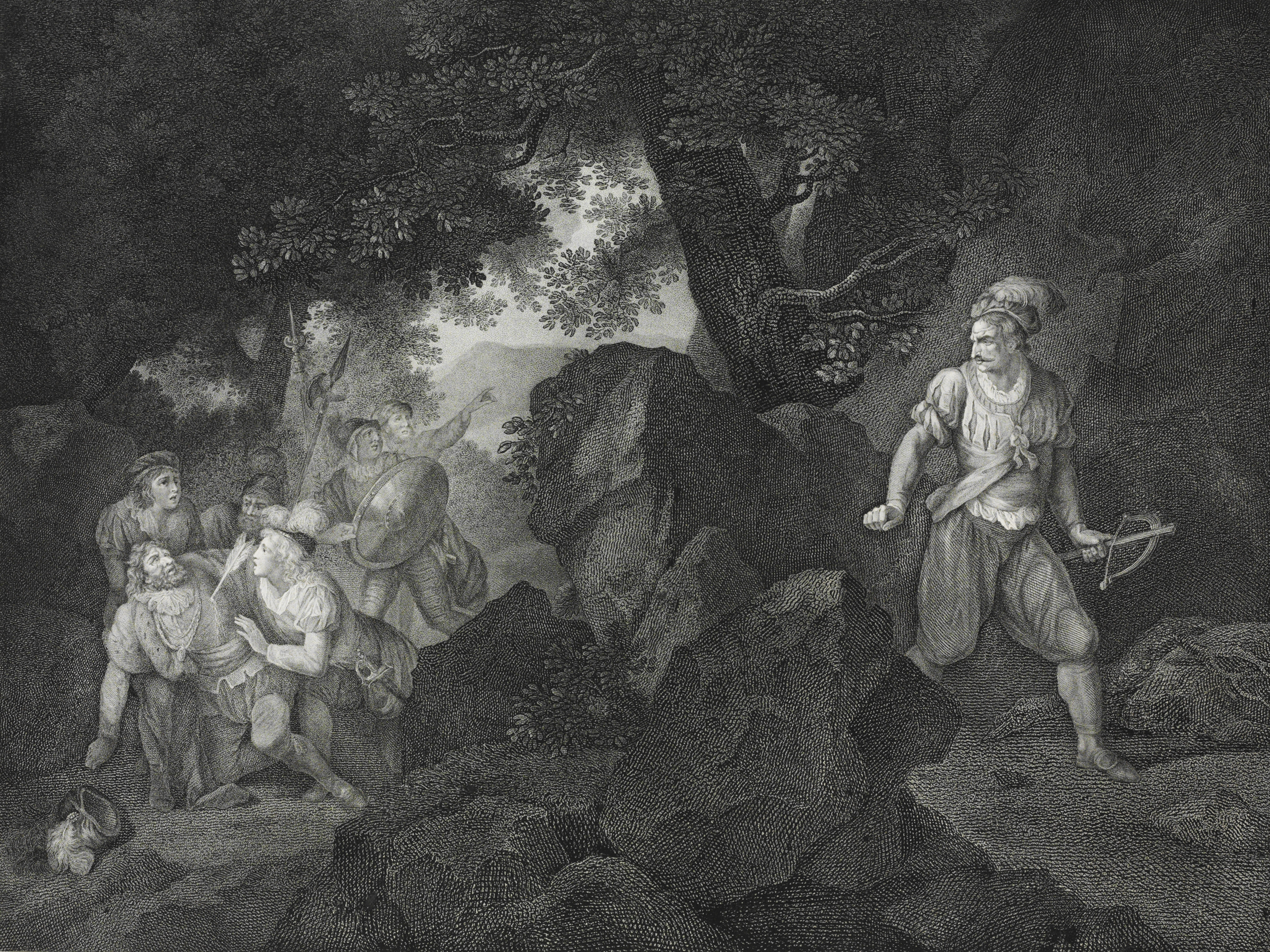 Mort de Gessler, gravure sur cuivre de Romain Girard, 1797