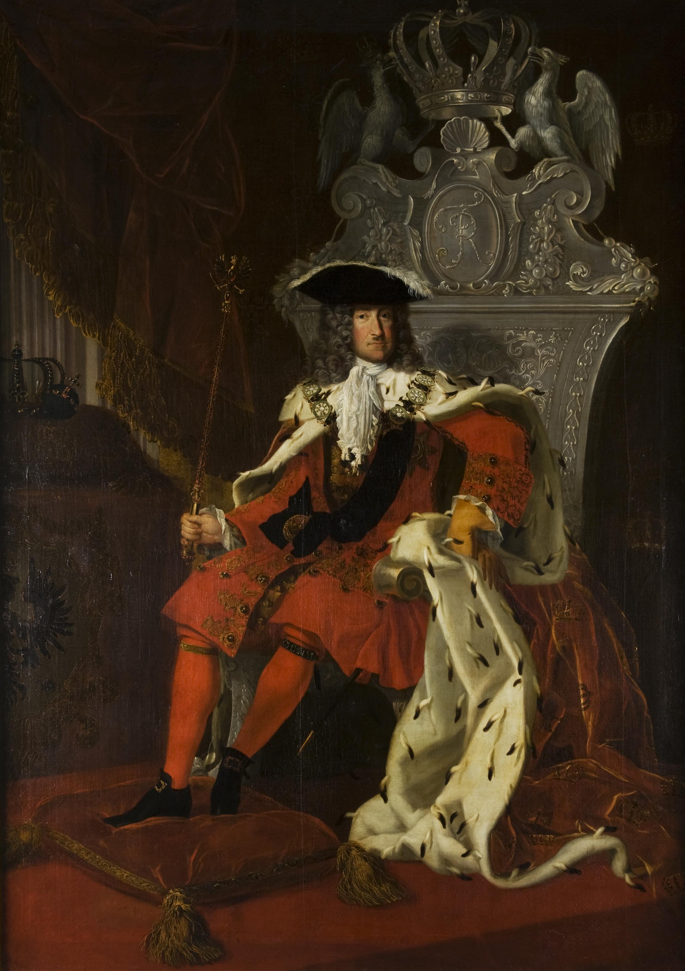 Frédéric Ier (1657-1713) , 1ère moitié du 18e siècle, anonyme, huile sur toile