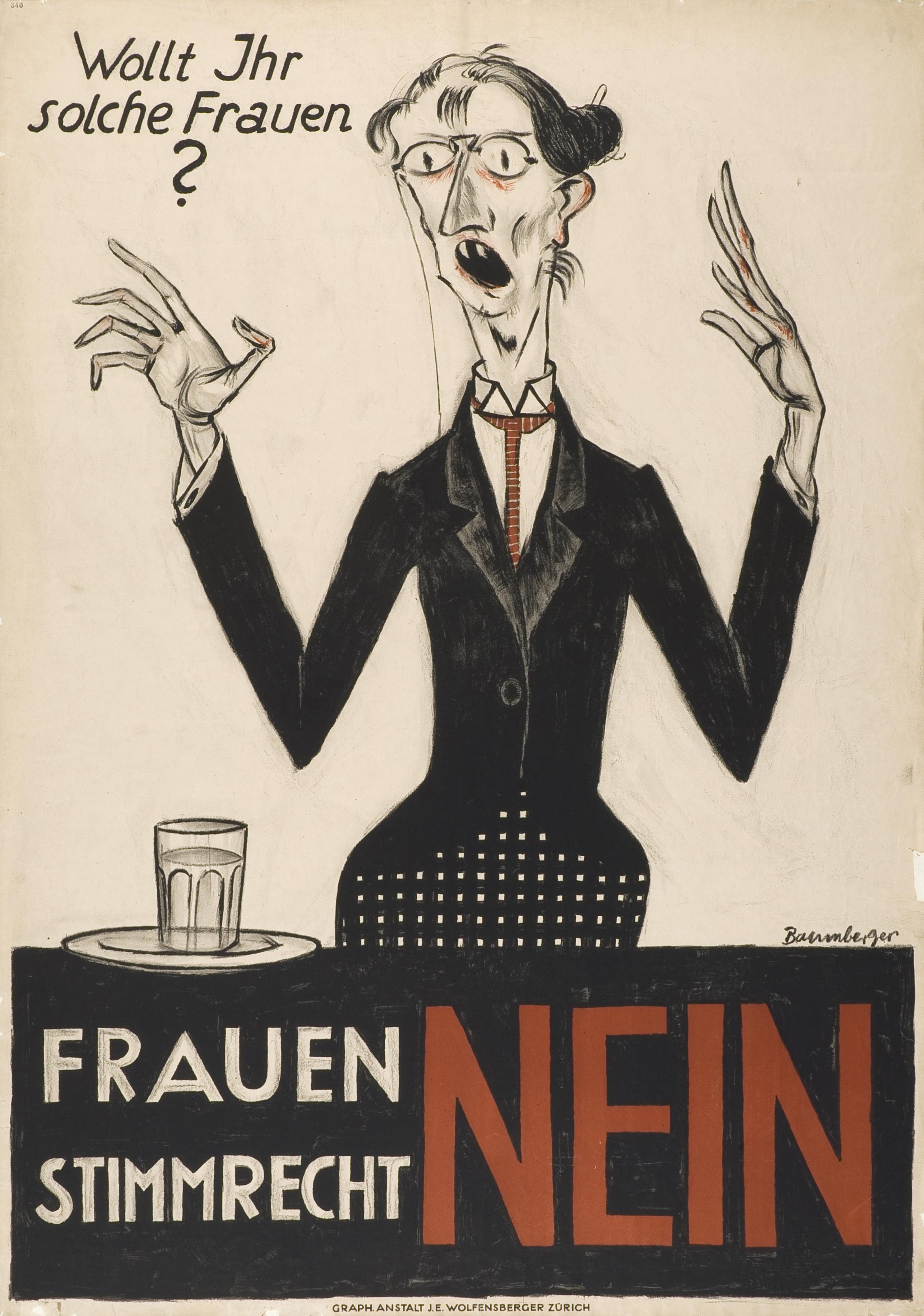 Wollt Ihr solche Frauen ? Frauenstimmrecht Nein (1920)