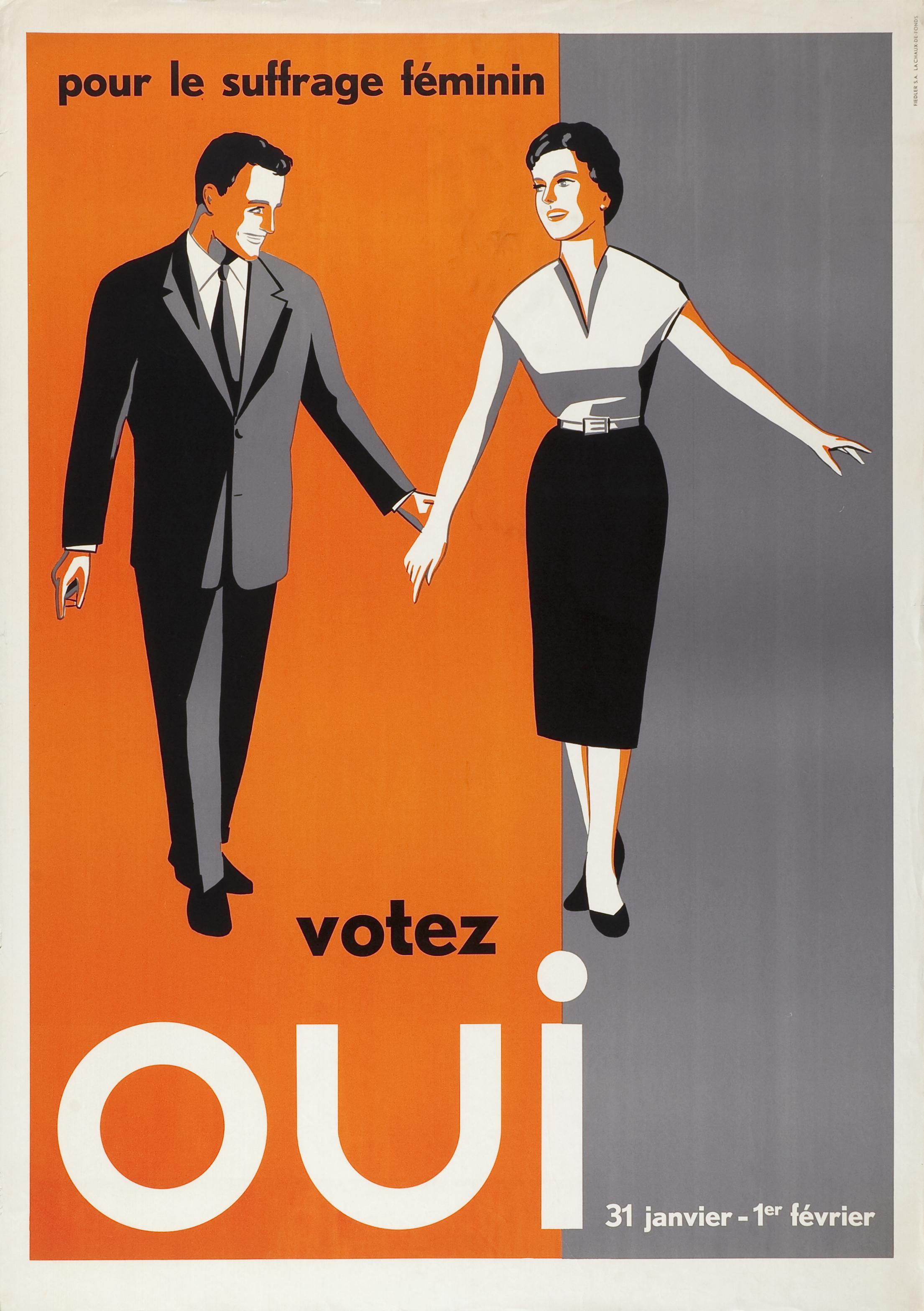 Pour le suffrage féminin votez oui, 31 janvier – 1er février (1946)