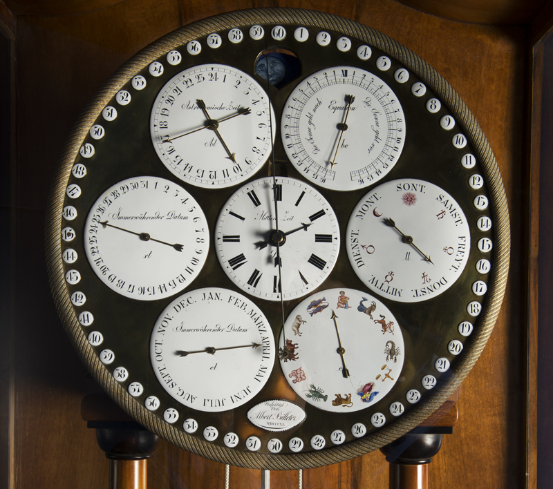 Cadran de l'horloge astronomique de Billeter (1840)