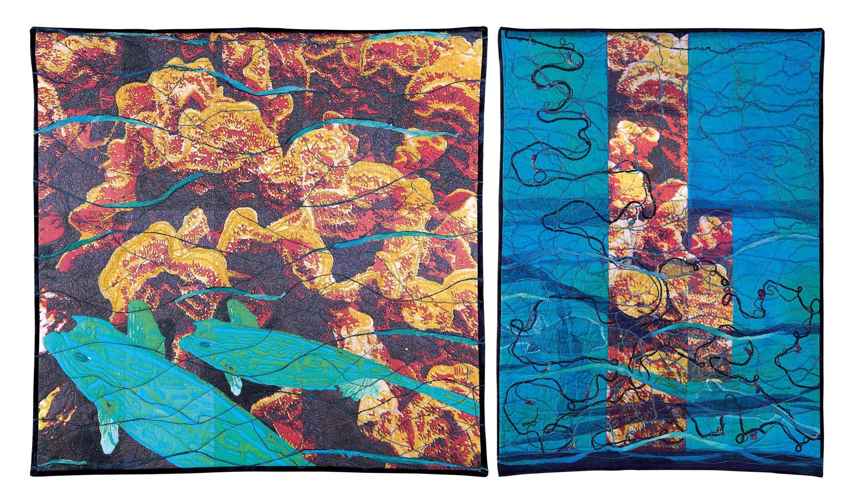 Reflect hidden Beauties , de Verena Matter (CH) 2009, 100cm x 100cm ; 100cm x 73cm