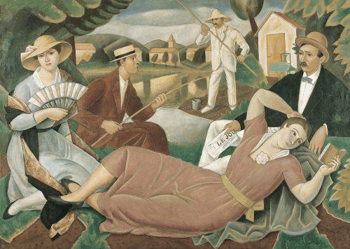 Dimanche d'été , 1921, Détrempe sur toile, 134 x 186 cm