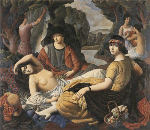 Après le bain , (2e manière), 1921-22, Huile sur toile, 156 x 180 cm
