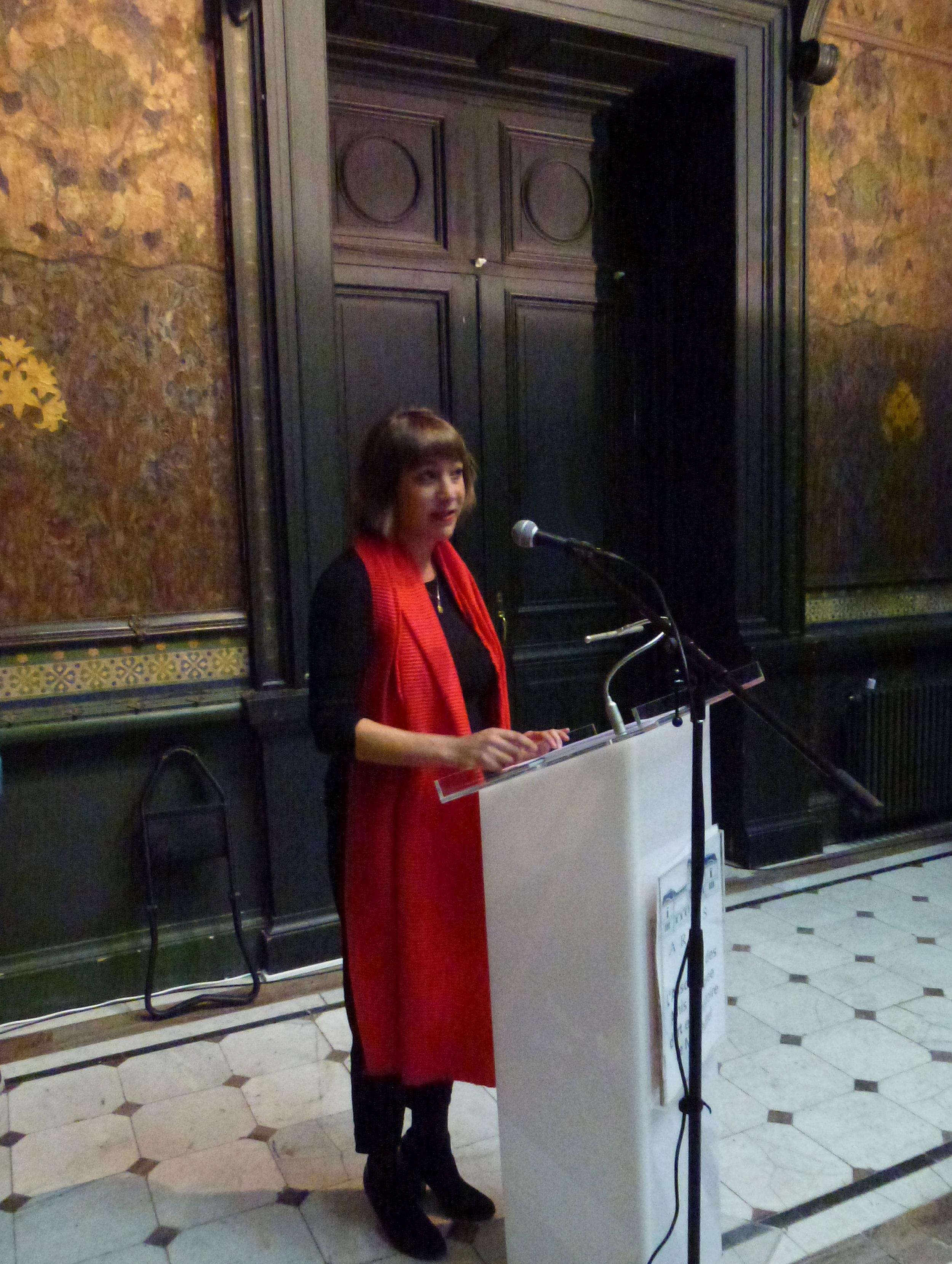 Séverine Cattin, qui a coordonné le contenu et le volet technique de la borne tactile interactive