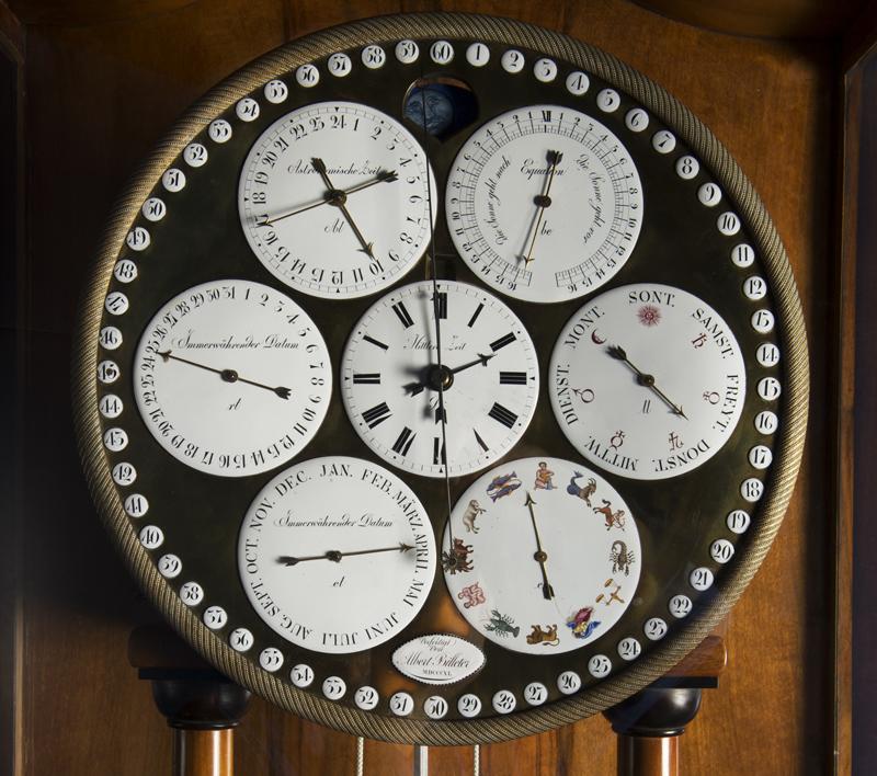 Cadrans de la pendule astronomique d'Alex Billeter