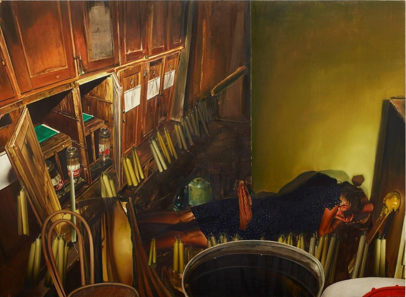 Léopold Rabus,  femme couchée , huile sur toile