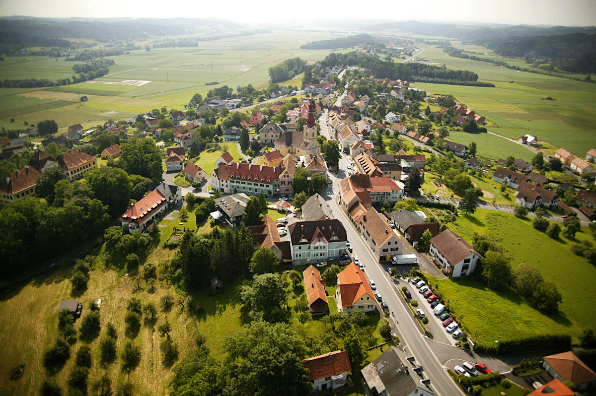 Luftaufnahme von Kirchberg an der Raab