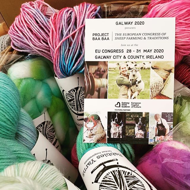 Promoting Project Baa Baa with our friends; the Irish Guild of Spinners Weavers, IGWSD and Dyers and  Irish Fibre Crafters, IFC  at Roscommon Lamb Festival 2019 #galway2020 #projectbaabaa #roscommonlambfestival #gaillimh2020 #sheep #galway #ireland #ECOC #education #farming #craft #makingwaves