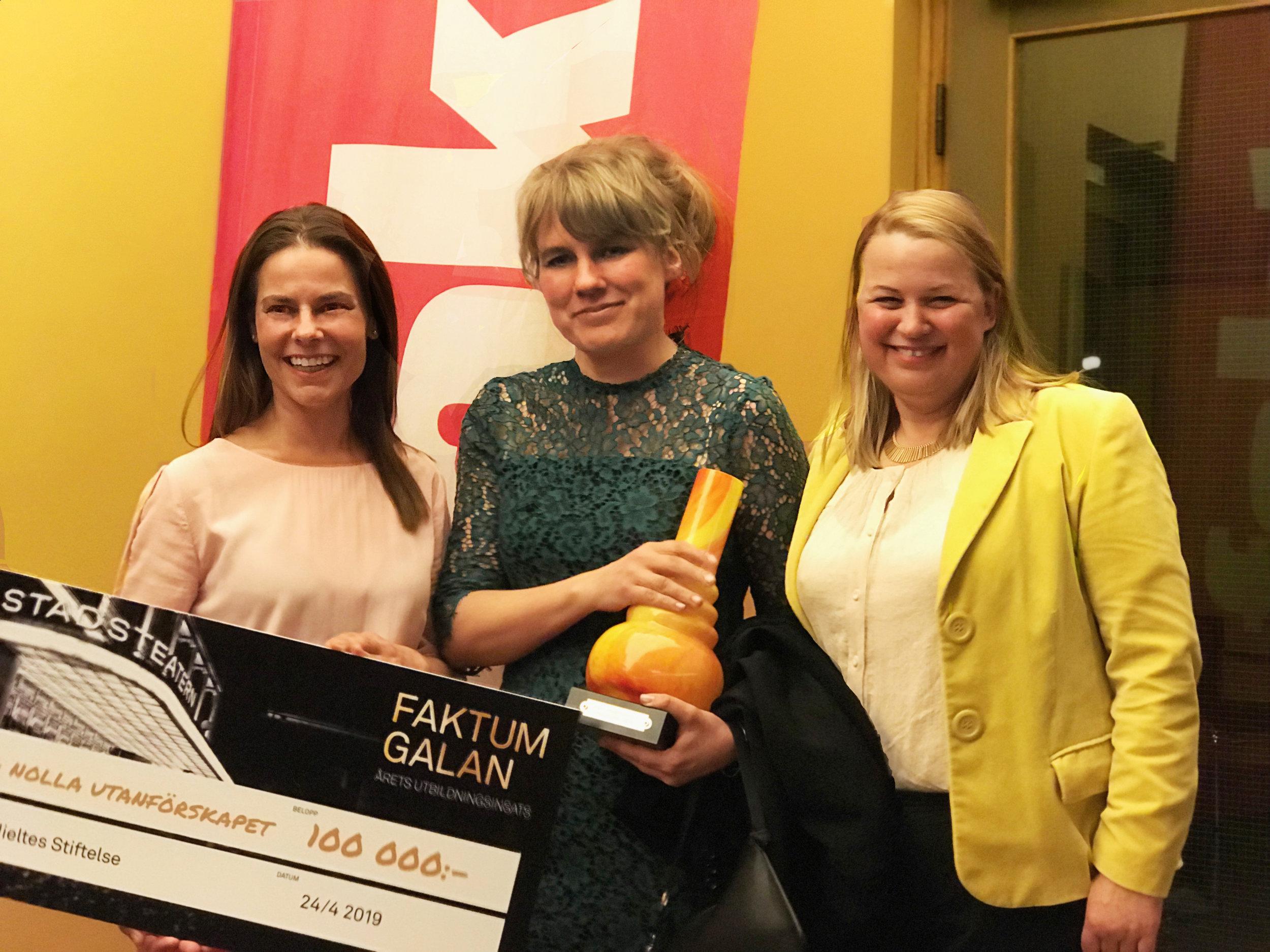 Sanna Wolk Katja Halvarsson Wanda Throne-Holst Faktumgalan 2019