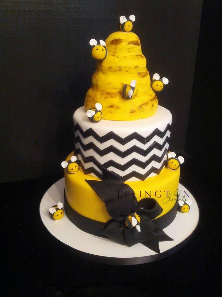 Bee themed baby shower cake - Princess.jpg