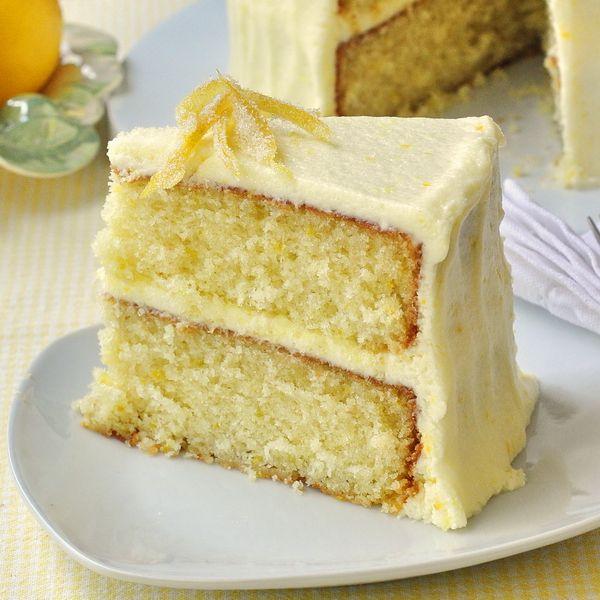 Lemon Cake  Most lemon cake paired with lemon buttercream or lemon cream cheese icing.
