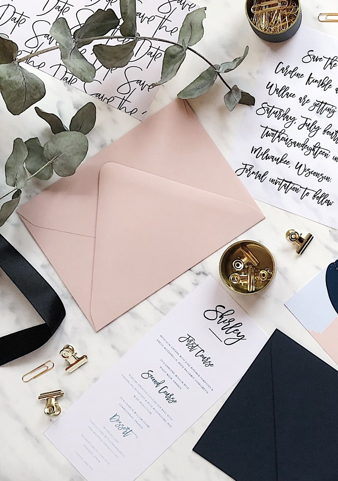 Print Your Wedding Stationery | Blanche Paperie
