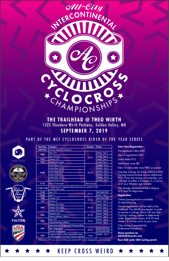 All- City Intercontinental CX:9/7