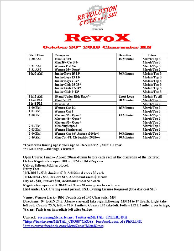 Revo CX: 10/26
