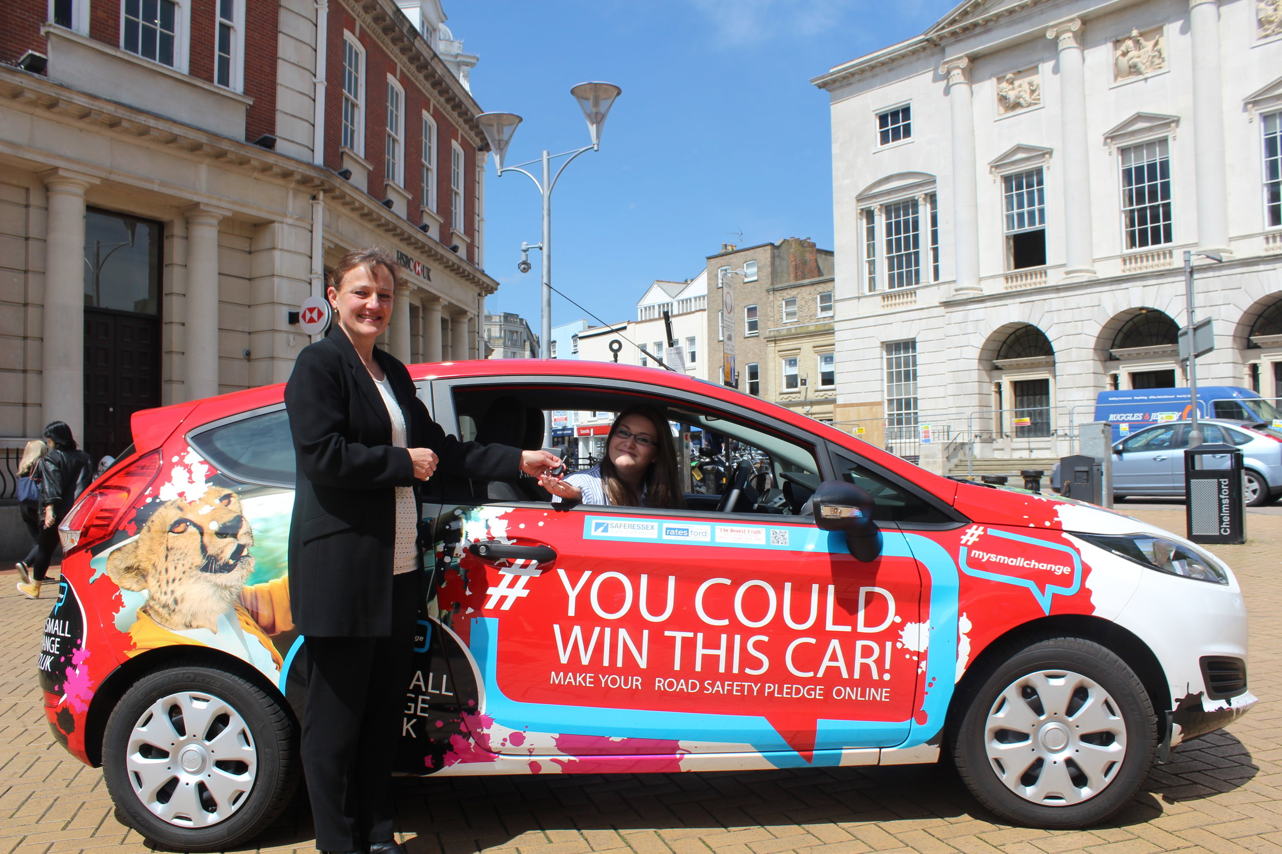 Last year we gave away a car and this lucky lady won!