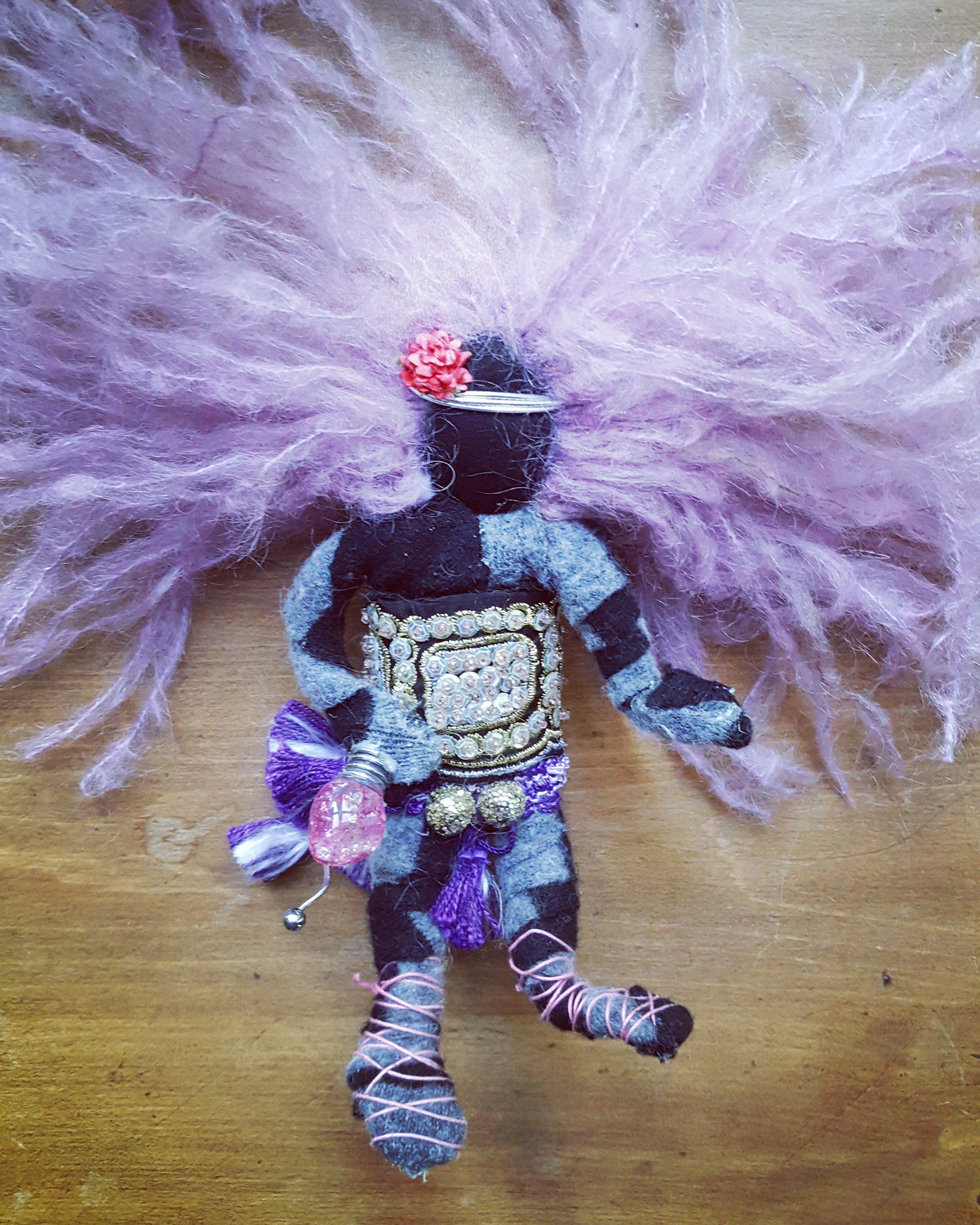 For Walter - I made this little guy for my beloved step-father Walter when he was struggling with cancer. Walter Loved purple and I loved him.