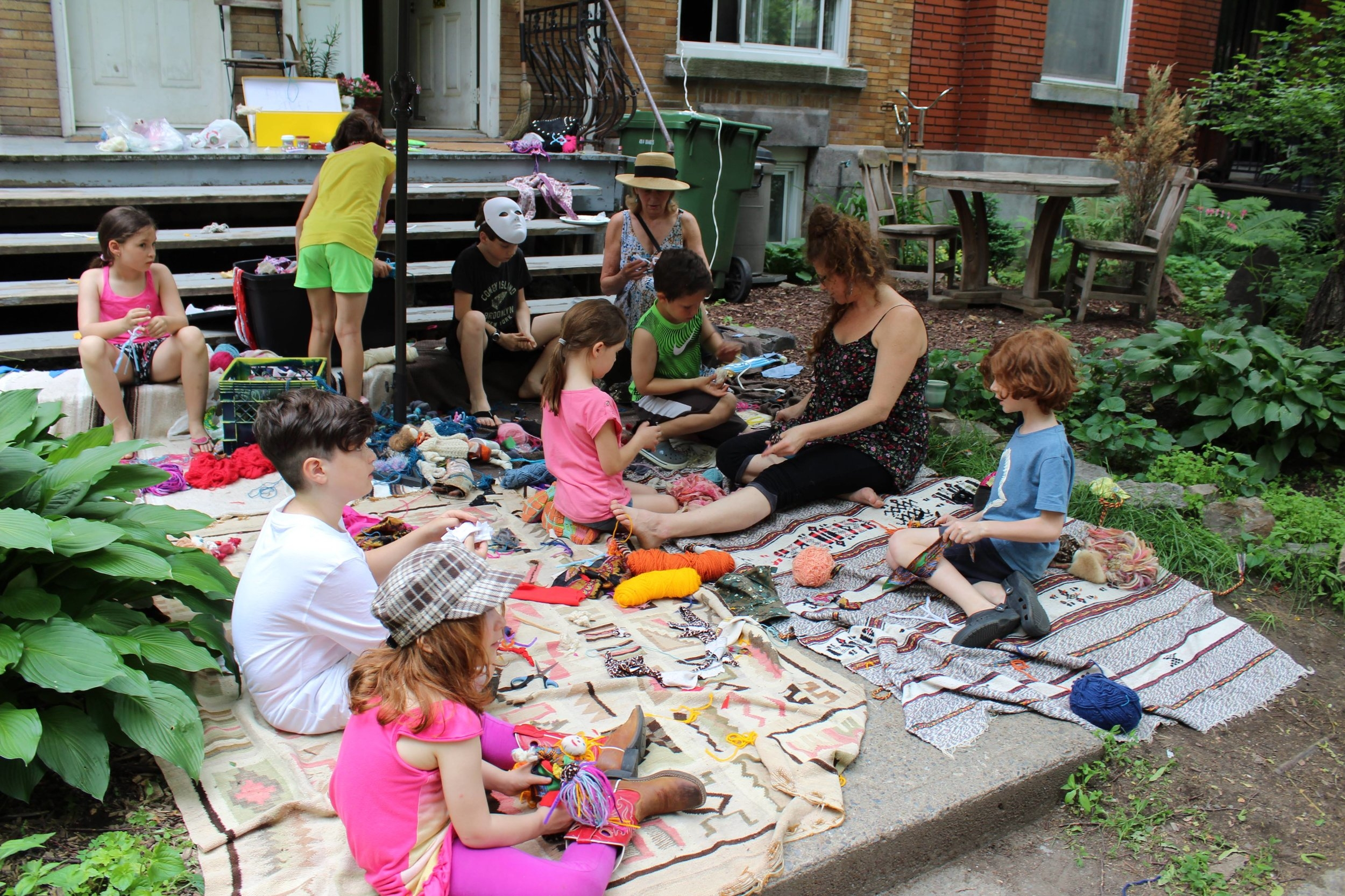 Community doll-making at the Belgrave Block Party