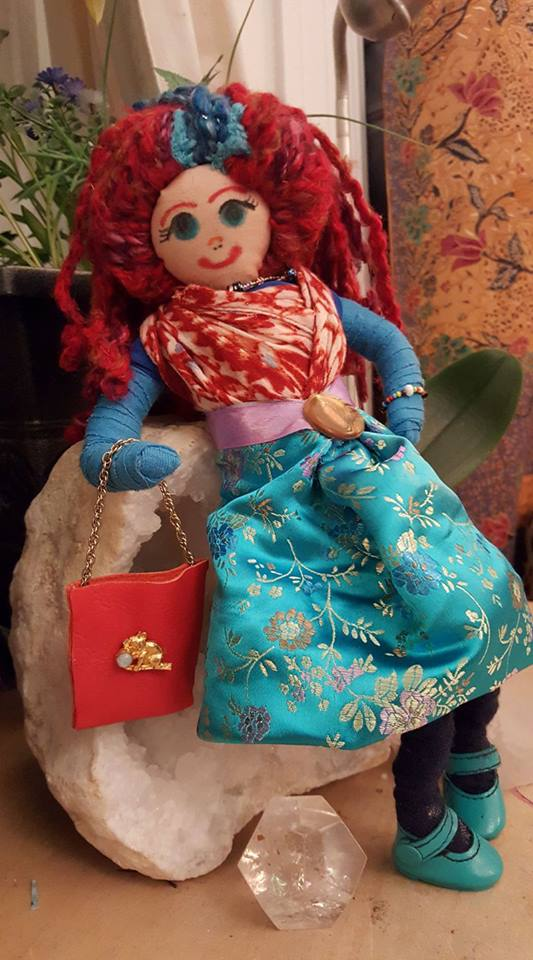 For Mavis - I had so much fun making this dollie for Mavis' 5th birthday! I love her reversible skirt and sassy attitude.