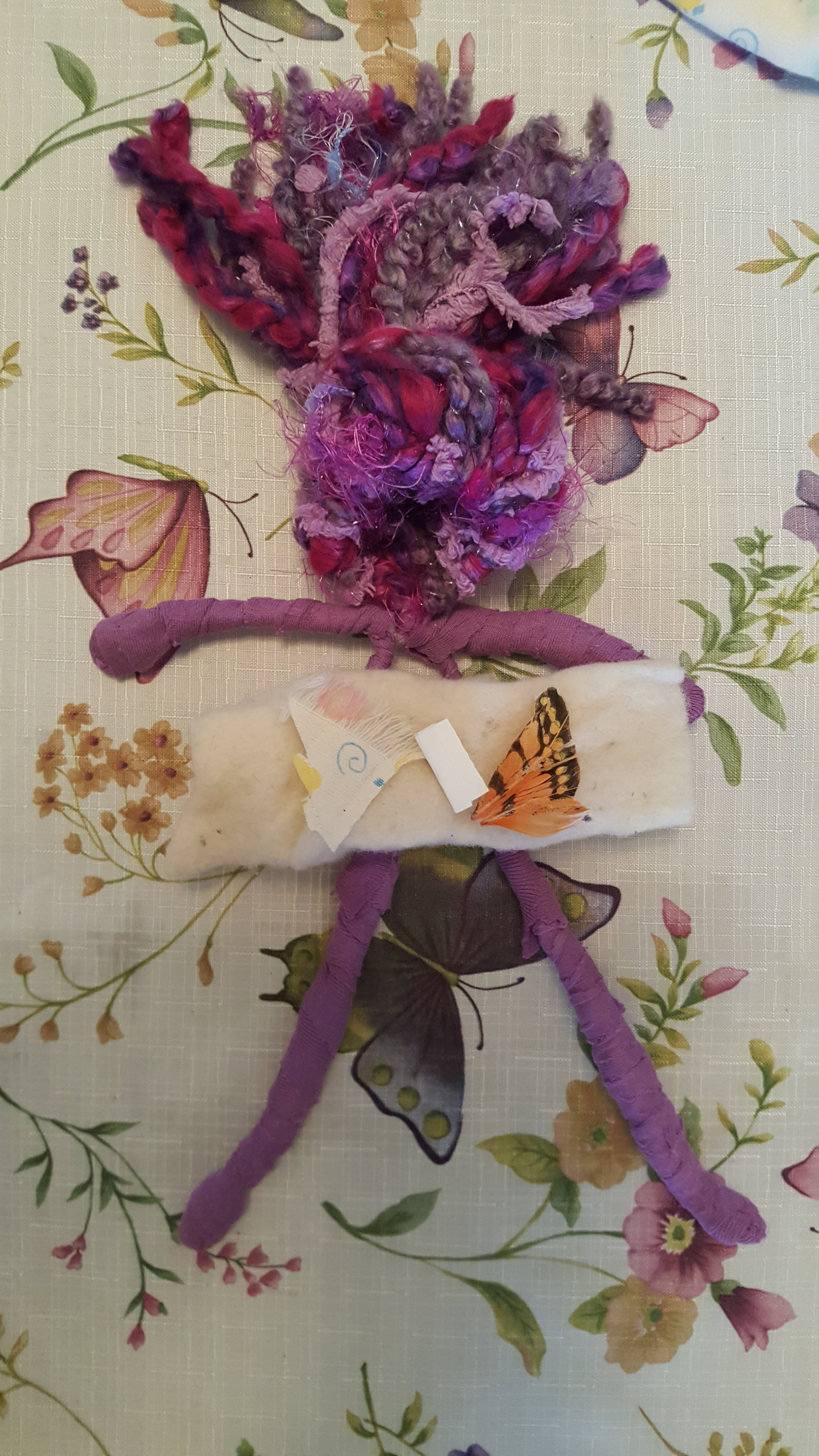 Each doll's heart is filled with small items to symbolize your special memories Julie placed inside her doll, a small piece of her grandson's baby blanket, a prayer and a wing of a butterfly which Michelle adored. -
