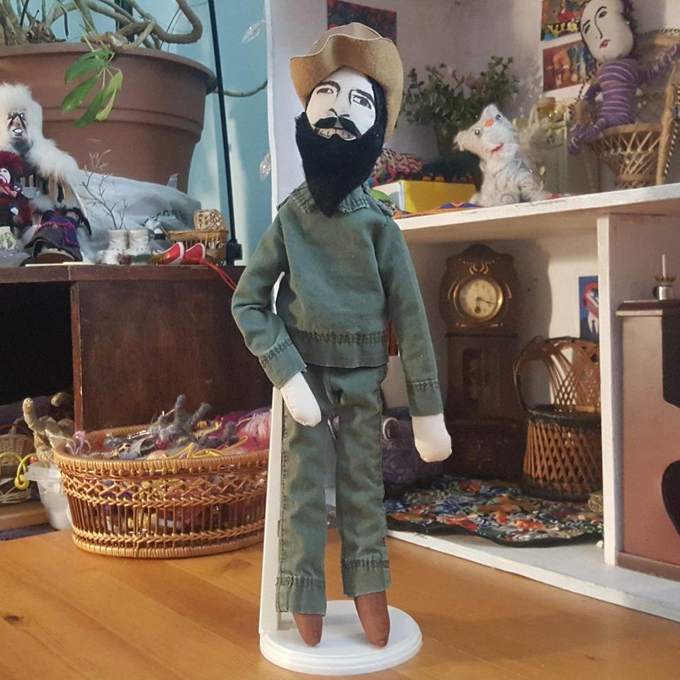 Camilo Cienfuegos - I was commissioned to make a doll in the likeness of Camilo Cienfuegos who was a Cuban revolutionary and side kick of Che Guevara. VIVA LA REVOLUCION!