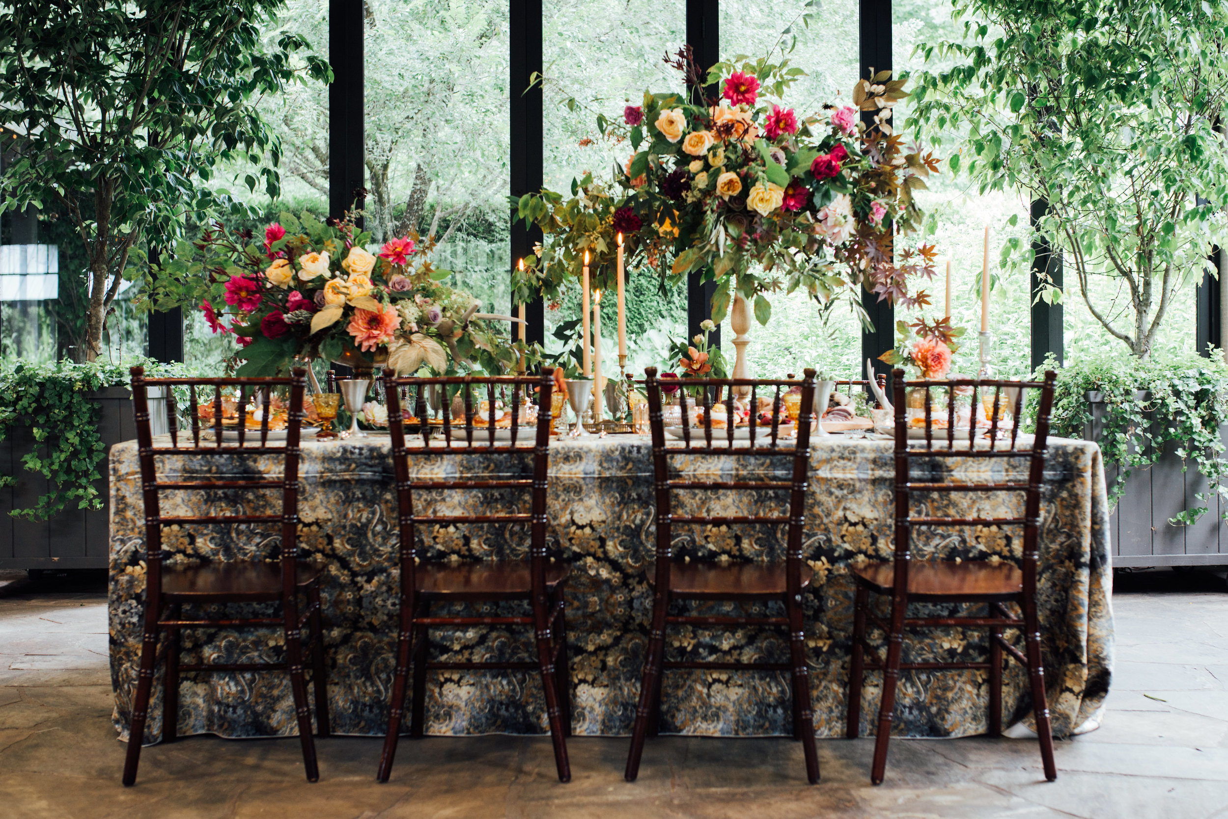 Game of Thrones Editorial Shoot by Whiskey & White Events. At the Old Edwards Inn in Highlands, NC.   Photo by Cameron Reynolds Photography  Design & Styling by Whiskey & White Events  Menus by One and Only Paper  Florals by Floressence Flowers  Linens by La Tavola Linens