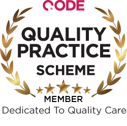 CODE Quality Practice Scheme (QPS) - Indigo Dental has been awarded membership of the CODE Quality Practice Scheme (QPS), in recognition of the high standards our team strives towards!Thank you to all our patients, without whom none of this would have been possible!