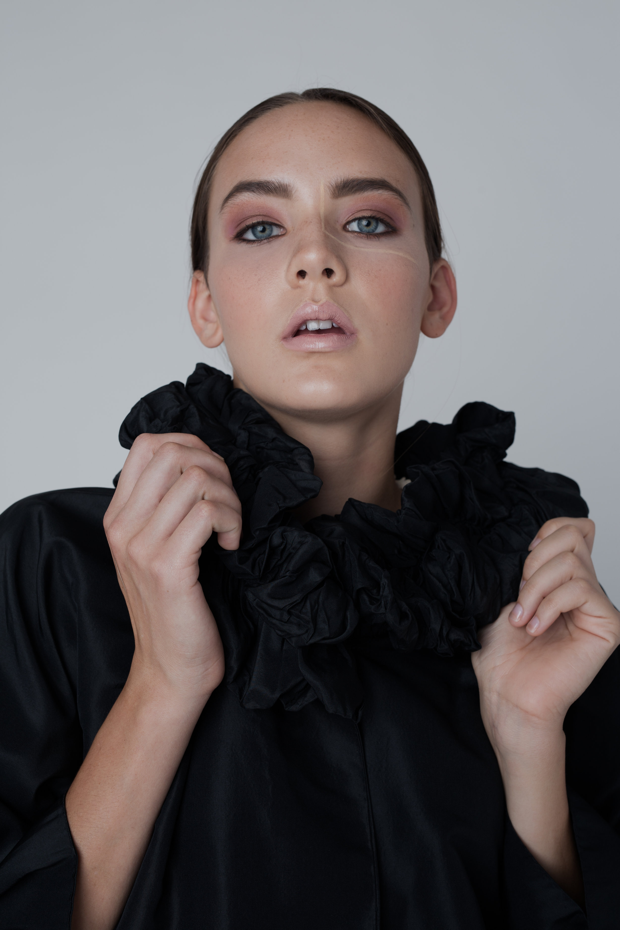 Photography  @ajsongstudio  Stylist  @_prey_   @prey_public  Model  @izpawline   @wilhelminamodels  Makeup  @anna.szeto.mua  Production  @zoe797979  Garment  @civviesnewhaven