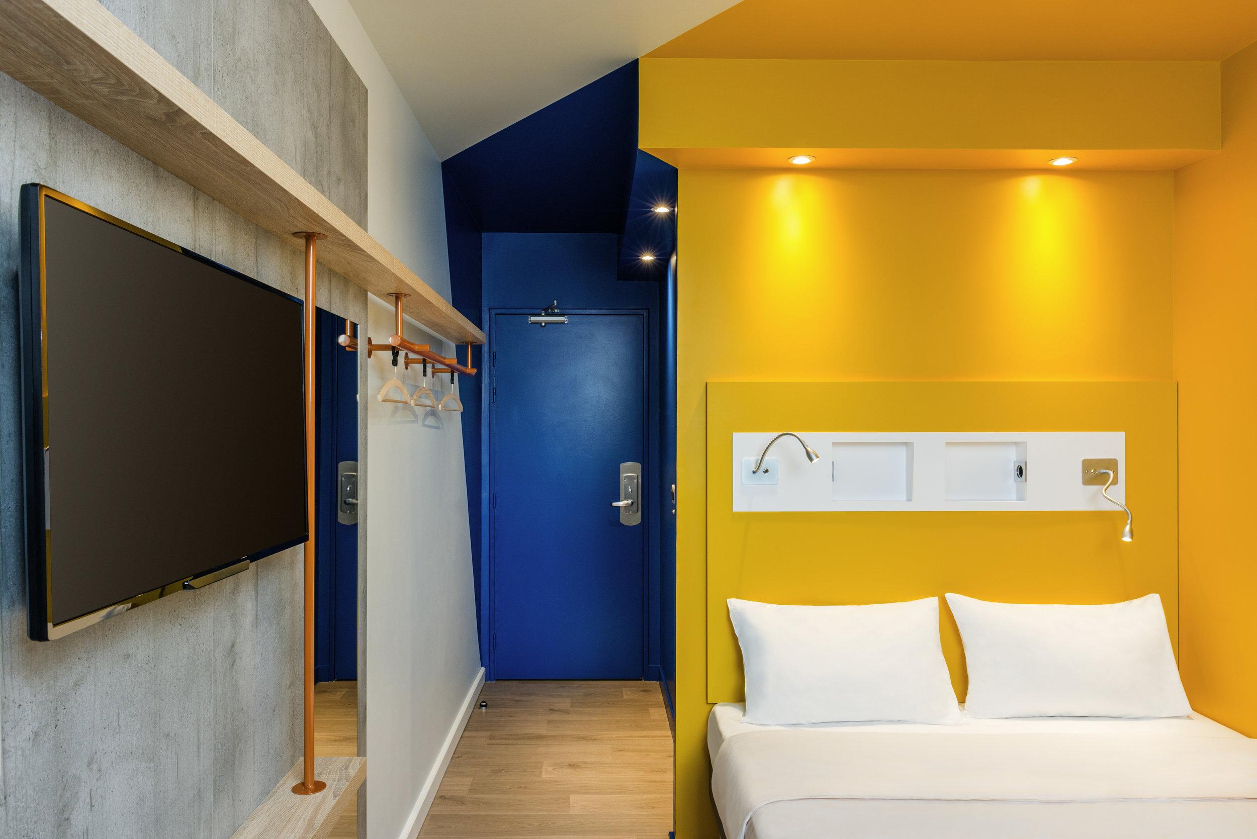 Détention murs et fonds 2 étoiles 88 chambres Snacking 24/24 Le + : la nouvelle chambre pour 1, 2 ou 3 hôtes