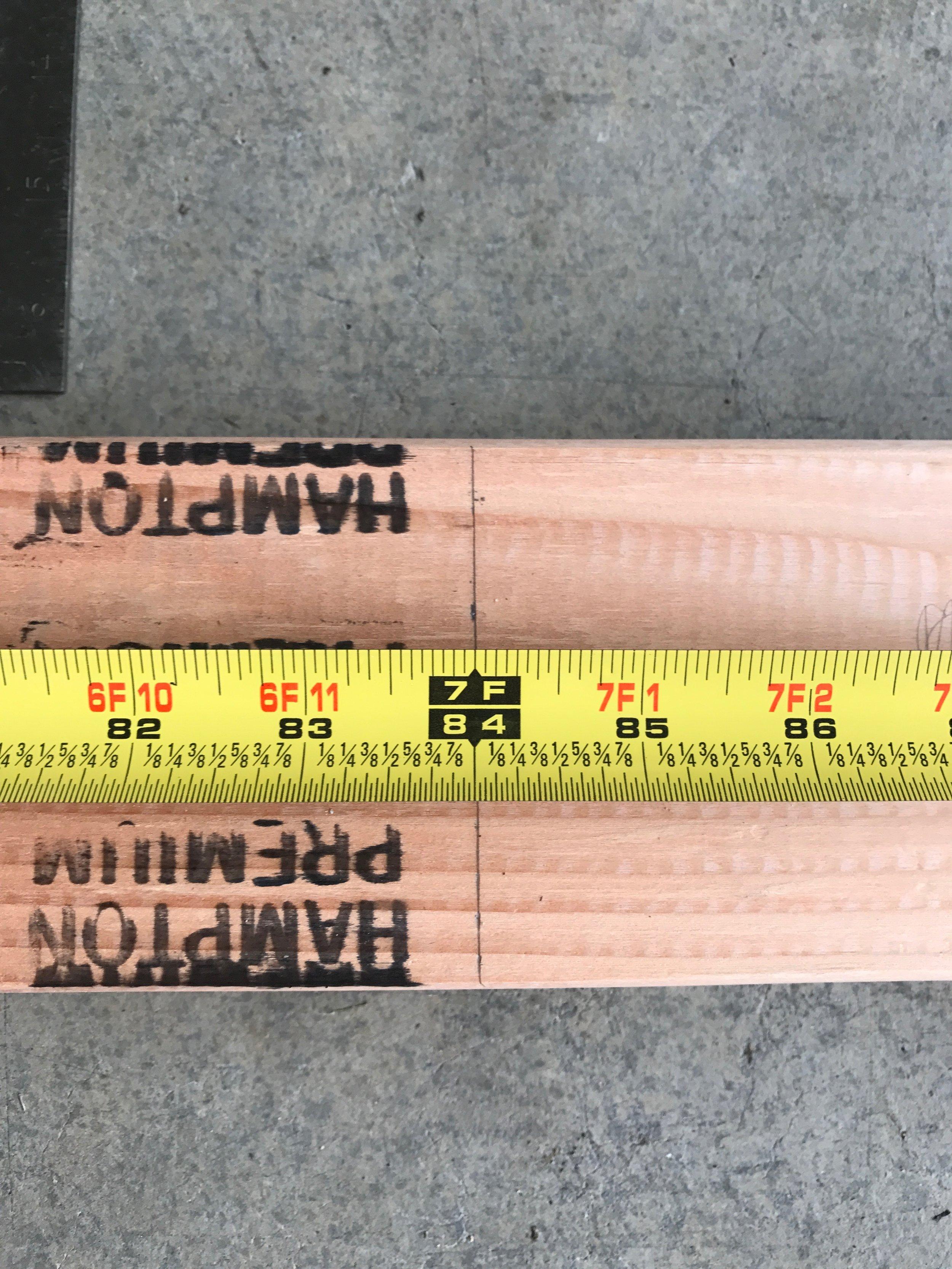 - 20in on tape measure from bottom mark it! 31 1/2 in on tape measure mark it! 43in on tape measure mark it! 54 1/2 inch on tape measure mark it! 66in on tape measure mark it!