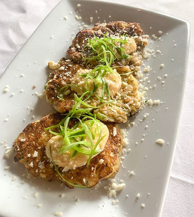 Plans?? How about Street Corn Fritters with Cojita cheese?!