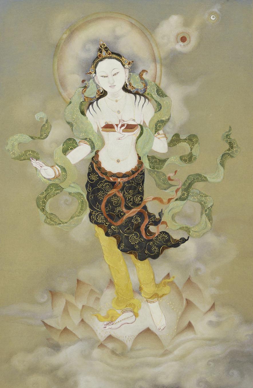 Prajnaparamita thankga by  Tara DiGesu